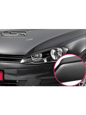 Koplampspoilers | VW Golf 7 alle vanaf 8/2012 | ABS Carbon Look