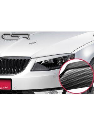 Koplampspoilers | Skoda Octavia 3 Typ 5E alle vanaf 2012 | ABS Carbon Look