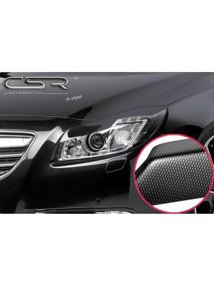 Koplampspoilers | Opel Insignia A  2008-6/2013 | ABS Carbon Look