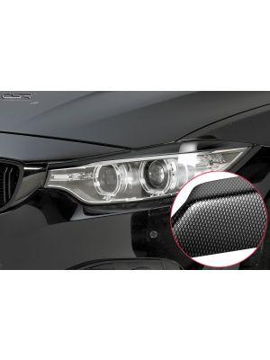 Koplampspoilers | BMW 4-serie F32, F33, F36 Coupé, Cabrio, Gran Coupé vanaf 10/2013 | ABS Carbon Look