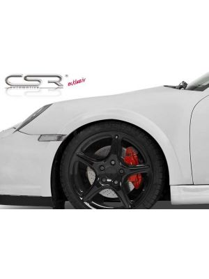 Spatbordverbreders | Porsche | 911 Cabriolet 08-13 2d cab. | GT2 | voor | Fiberflex