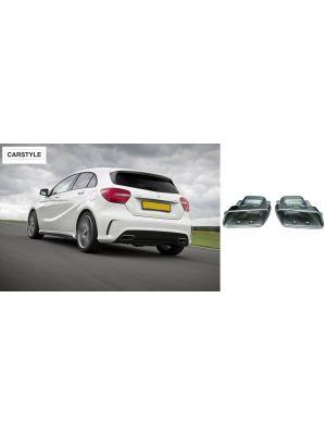 Uitlaatsierstukken | voor AMG achterbumpers | Mercedes-Benz A-Klasse W176 | set links / rechts