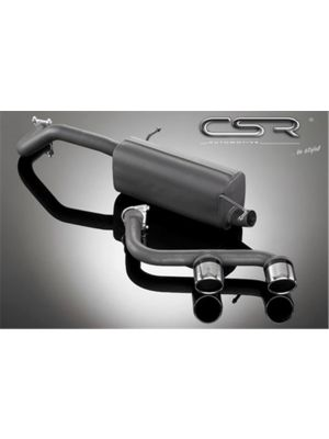 Einddemper met Eindstukken in R32 Look |  Audi A1 VW Polo 5 Typ 6R | CSR-ESD105