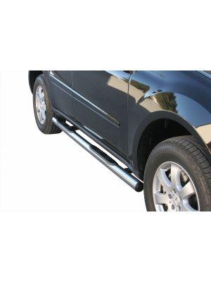 Side Bars | Mercedes-Benz | M-klasse 05-08 5d suv. W164 / M-klasse 08-11 5d suv. W164 | RVS