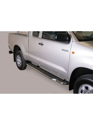 Side Bars | Toyota | Hilux 06-12 2d pic. / Hilux 12-16 2d pic. | RVS