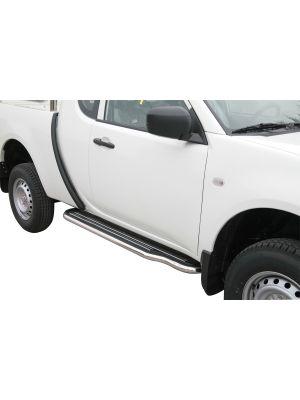 Side Steps / Sidebars | Mitsubishi L200 C.C. 2010- | RVS