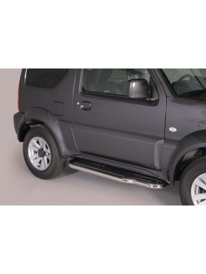 Side Bars | Suzuki | Jimny Metal Top 12- 3d suv. | RVS