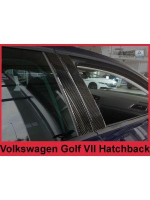 Sierlijsten B-Stijl | Volkswagen | Golf 12-17 5d hat. VII 5G1 BQ1 BE1 BE2 / Golf 17- 5d hat. VII 5G1 BQ1 BE1 BE2 | Carbon zwart