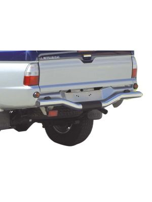 Rear Bar | Mitsubishi | L200 C.C. 97-06 2d pic. / L200 D.C. 97-06 4d pic. | TDI versie | RVS