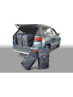 Reistassen set | Seat Ateca 2016- | diepe laadvloer | Car-Bags