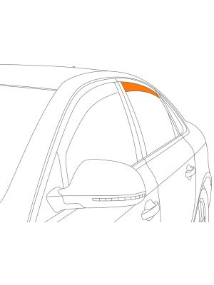 Zijwindschermen | Volkswagen Passat 3D Variant 2014- | Climair | achterportieren | Smokegrey