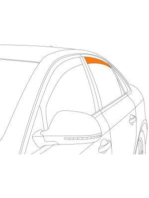 Zijwindschermen | BMW 3-Serie F31 Touring 2012- | Climair | achterportieren | Smokegrey