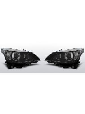 Koplampen D2S of H7 in zwart | BMW 5-serie E60 E61 | CCFL