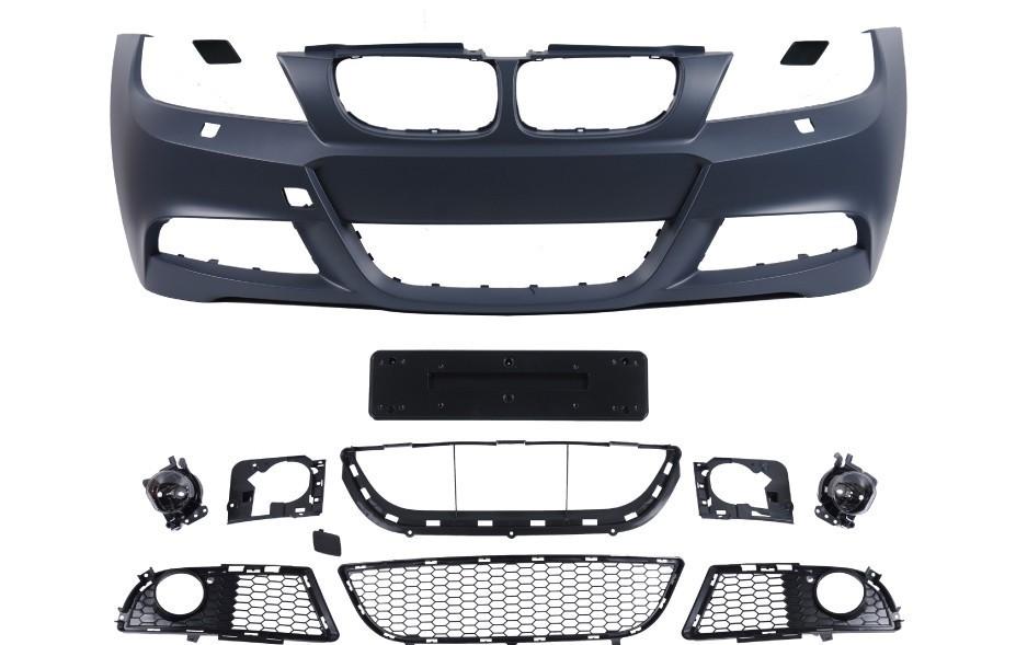 Voorbumper |  BMW 3 serie sedan touring E90 E91 LCI  2008-2011 | PDC kit | inclusief mistlampen