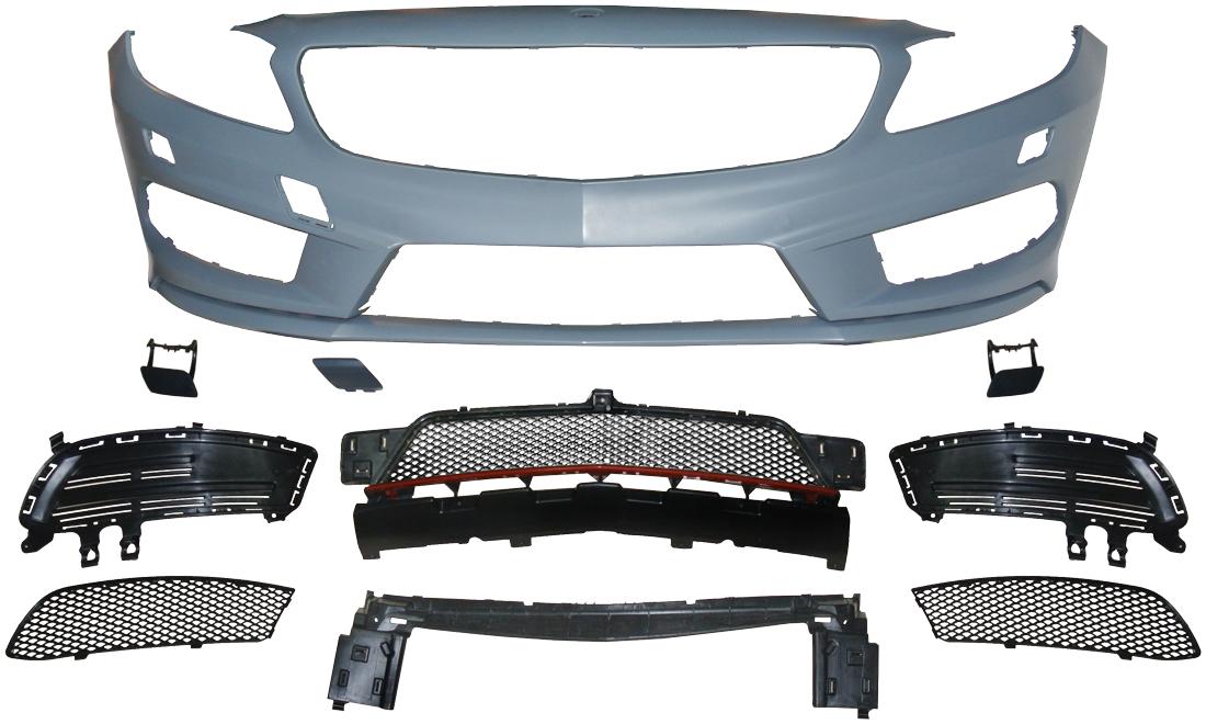 Voorbumper | Mercedes A-Klasse W176 | voor AMG sportpakket | ABS en PP kunststof