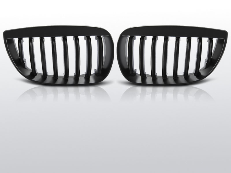 Grillen set | Nieren | BMW 1-Serie E87 2004-2007 | mat zwart